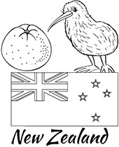Printable flags and countries educational coloring pages