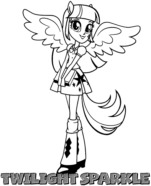 highquality twilight sparkle coloring sheet