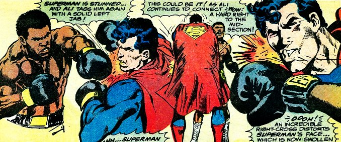 coups de poings fracassants comics Marvel DC