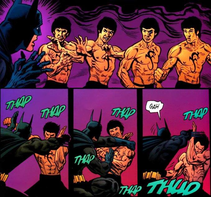 Batman combat Bruce Lee