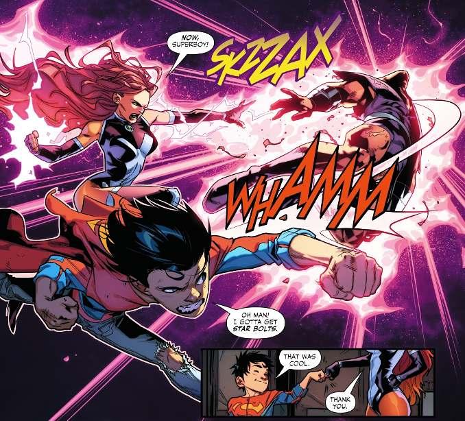 Super Sons tome 2 avis Starfire et le fils de Superman