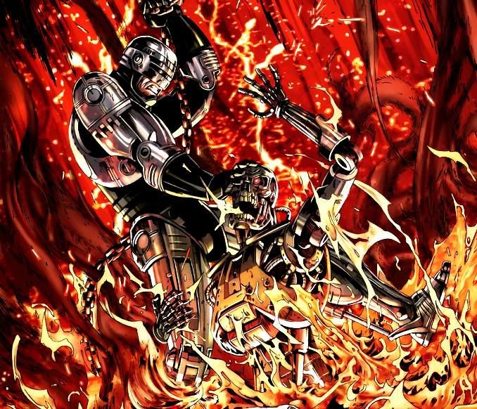 comics crossover robocop terminator kill human
