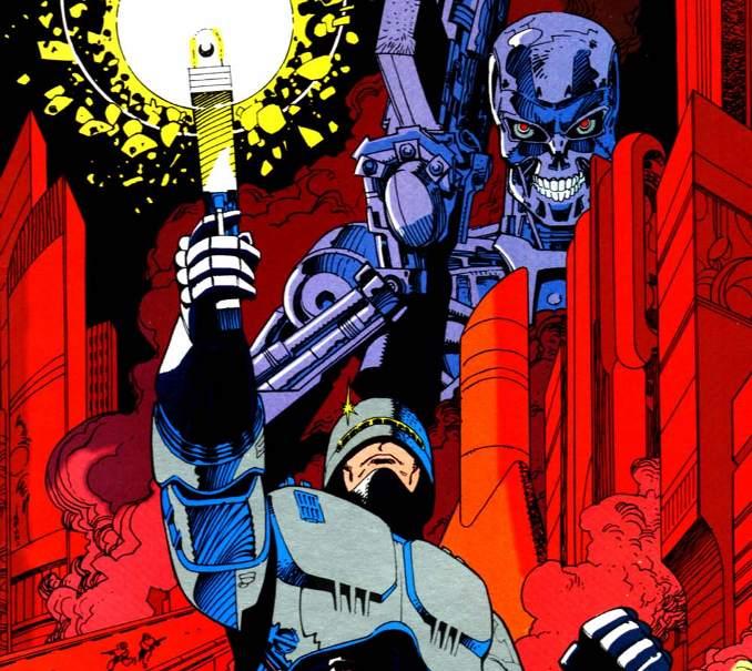 comics crossover terminator robocop