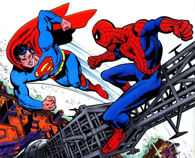 Spider-Man Superman crossovers marvel contre DC comics