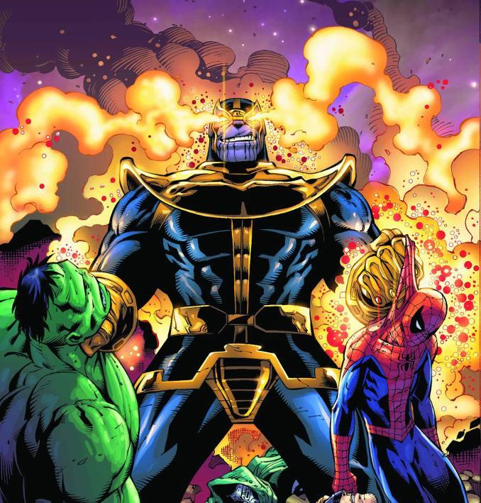 Captain Marvel contre Thanos