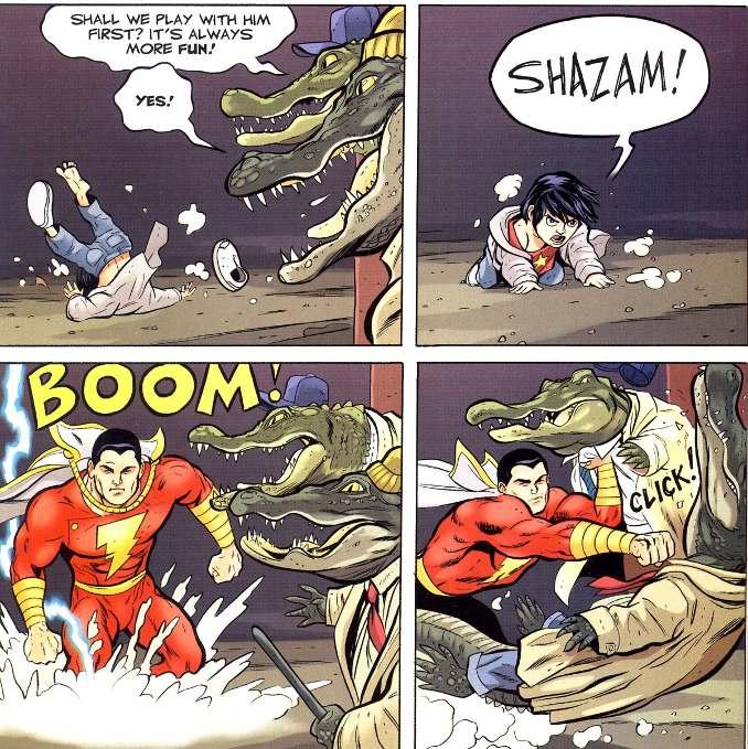 Shazam contre la société des monstres jeff smith