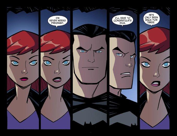 Batman Batgirl enceinte