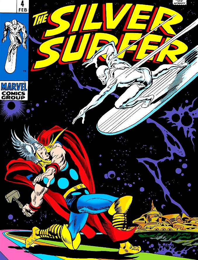 combat Thor Silver Surfer
