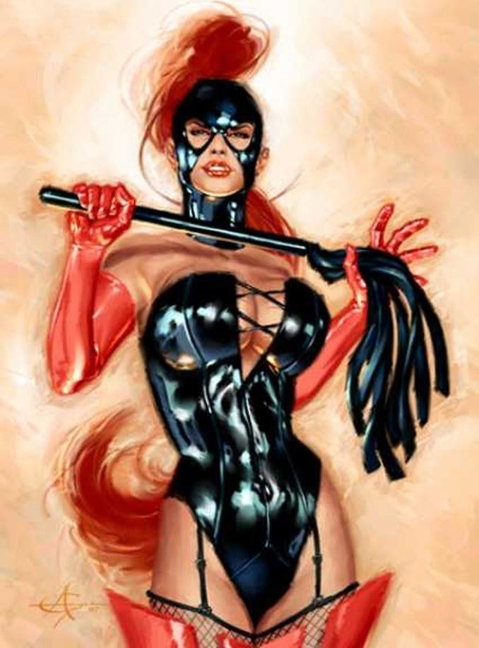 dominatrix dominique stern comics bdsm bondage tenue