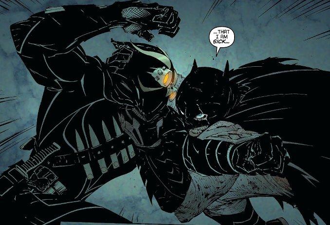 combat Batman ergot cour des hiboux