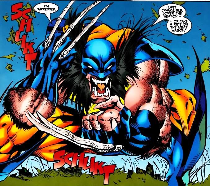 looks Wolverine sauvage