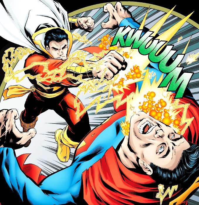 superman vaincu shazam