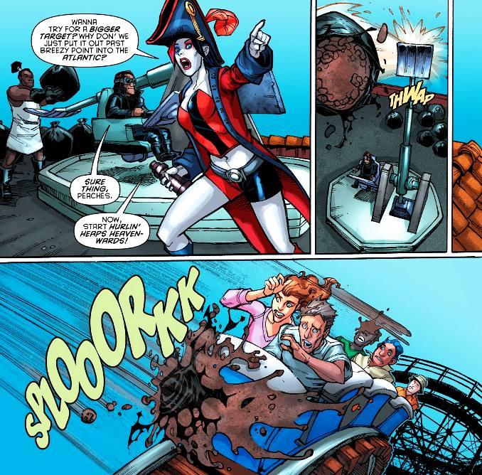 secrets Harley Quinn catapulte à caca