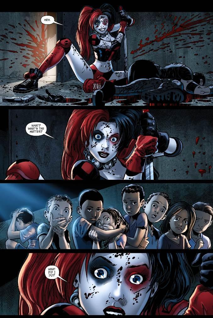 secrets Harley Quinn trauma enfants