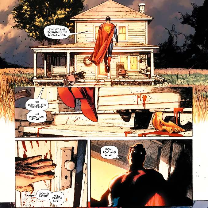 Heroes in Crisis superman sanctuaire