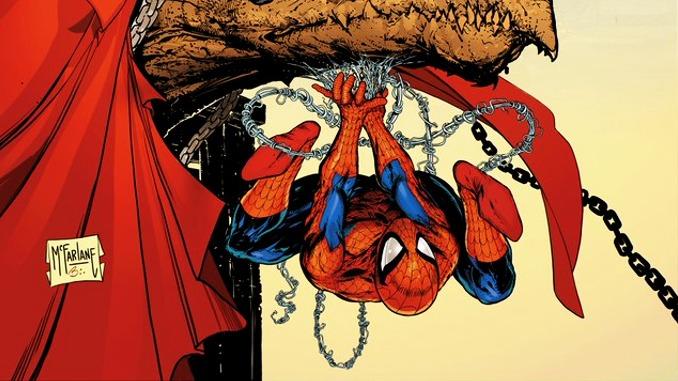 Todd McFarlane couverture spider-man spawn