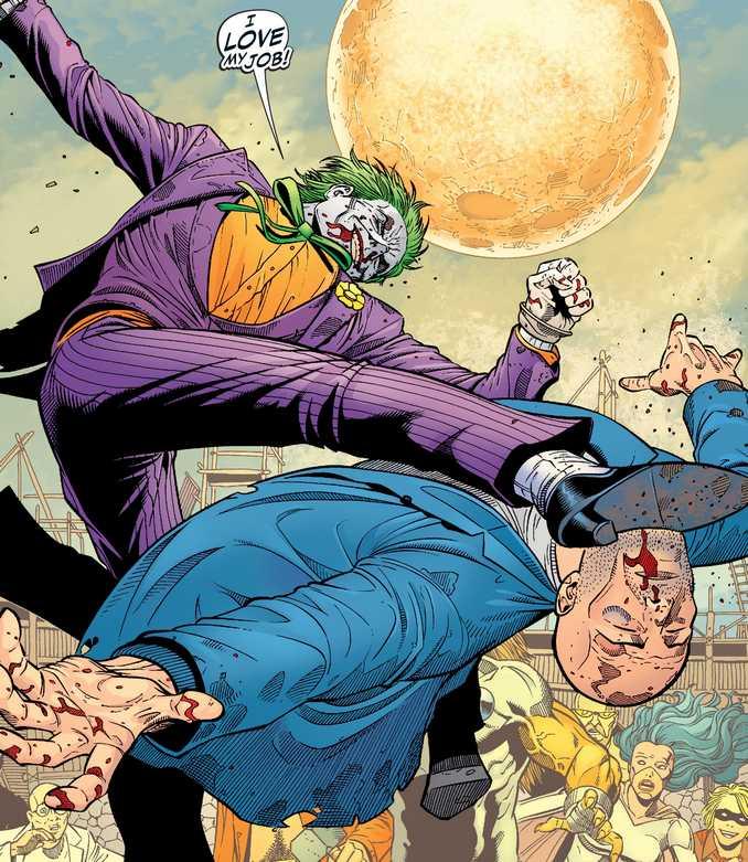 Combat singulier entre Lex Luthor et le Joker