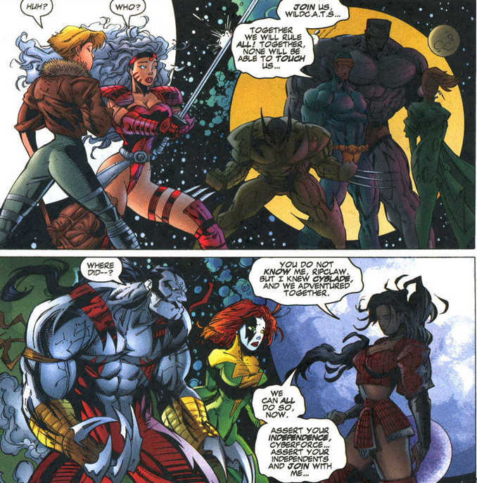 Shattered Image WildCATS X-Men Cyberforce Shi