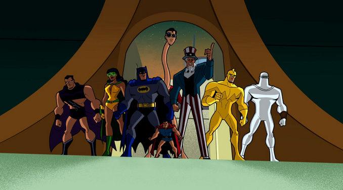 Uncle Sam Batman Plastic Man Freedom Fighters