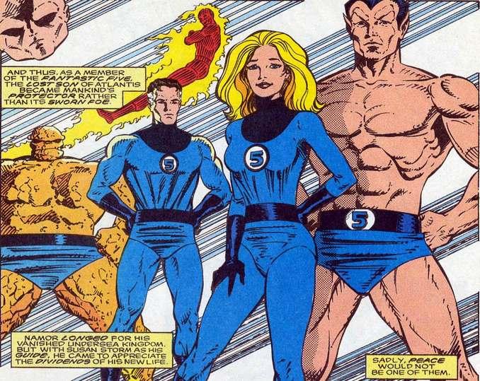 Namor membre des Fantastic Five