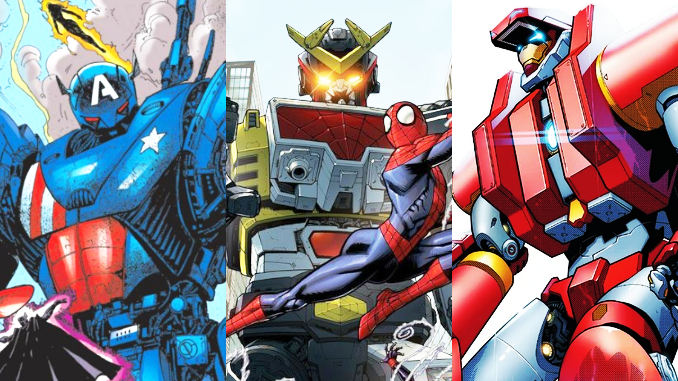 mechas Marvel comics