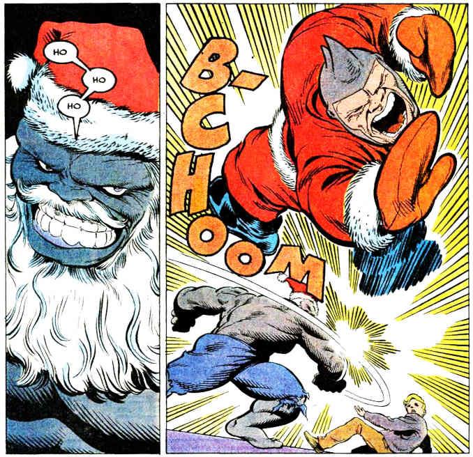 comics superhéros pere noel