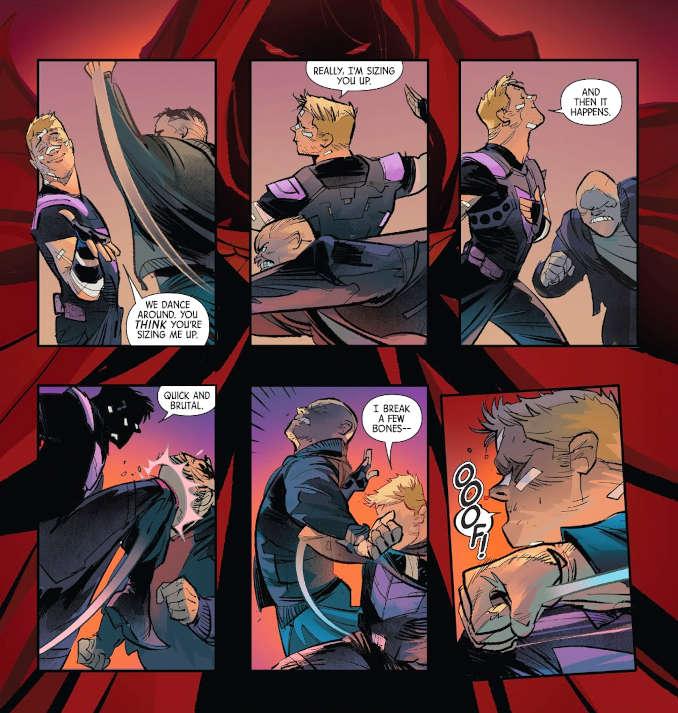 comics hawkeye chute libre combat