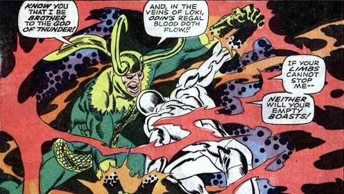 Loki vs Silver Surfer