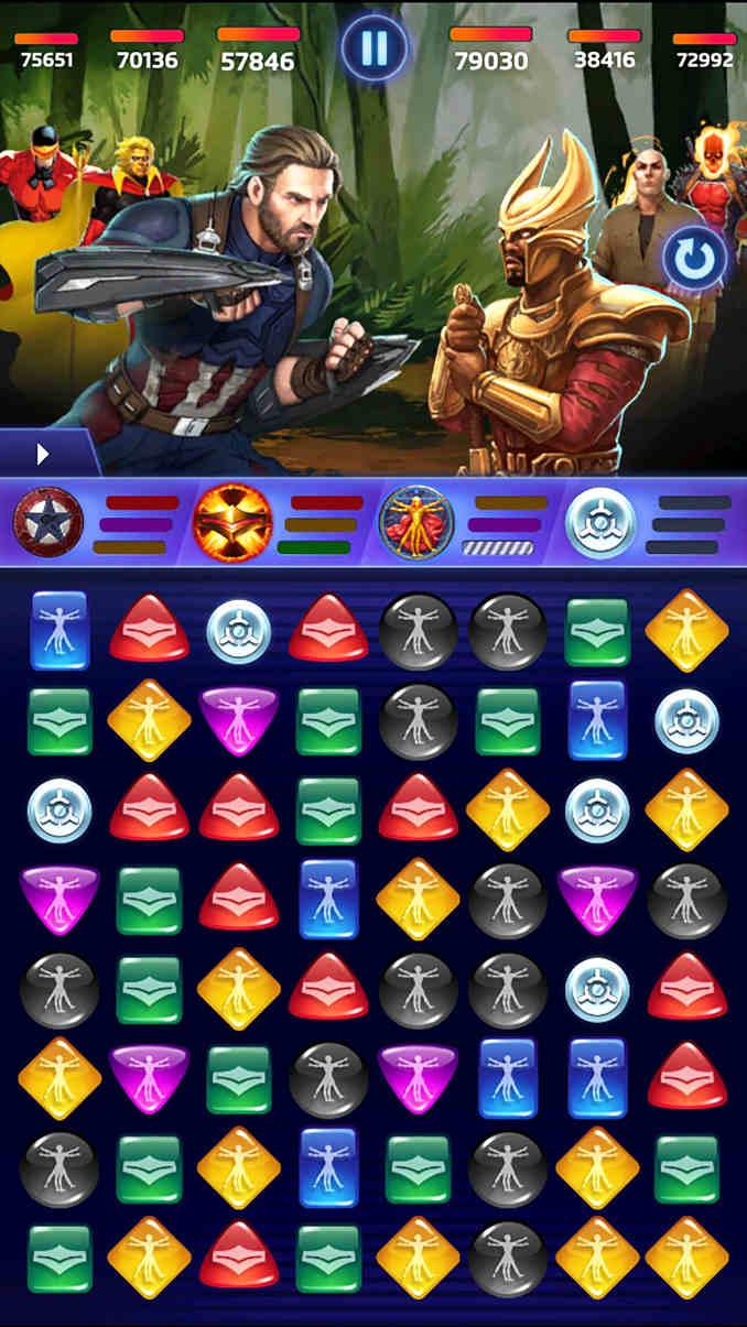 jeux mobiles marvel