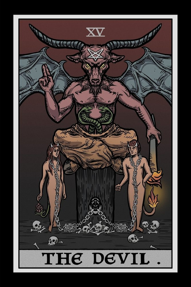 De Duivel Tarotkaart
