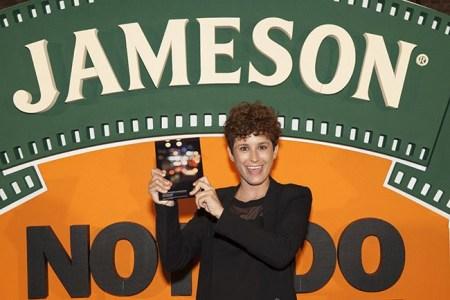 María Pérez, ganadora de la XIII edición de JamesonNotodofilmfest
