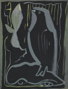 El cuervo, obra pictórica de Francisco Bores