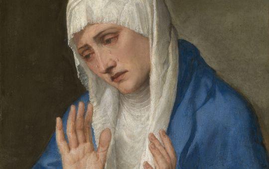 Obra la Dolorosa del pintor Tiziano