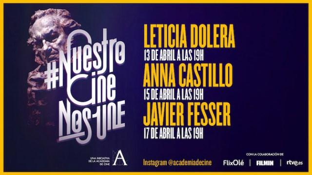 Leticia Dolera, Anna Castillo y Javier Fesser, en #NuestroCineNosUne