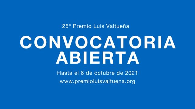 Convocatoria abierta 25 Premio Luis Valtueña