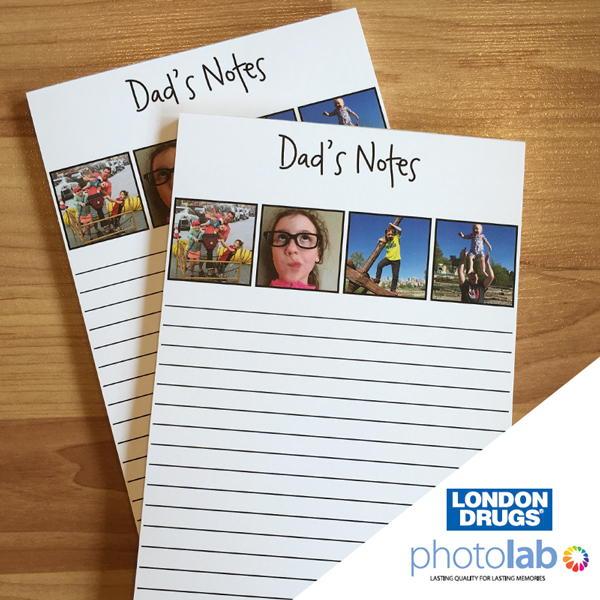 London Drugs Photo Lab Notepad