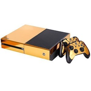 NDAD-Full-Body-Golden-Protective-Vinyl-Skin-Decal-For-Xbox-one-Console-and-2PCS-Xbox-one-Controller-Skins-Stickers-0