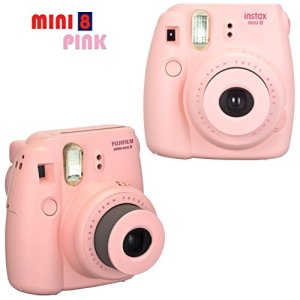 FujiFilm-Instax-Mini-8-Camera-PINK-Accessories-KIT-for-Fujifilm-Instax-Mini-8-Camera-includes-40-Instax-Film-Custom-Case-4-AA-Rechargeable-Batteries-Assorted-Frames-Photo-Album-MORE-0-0