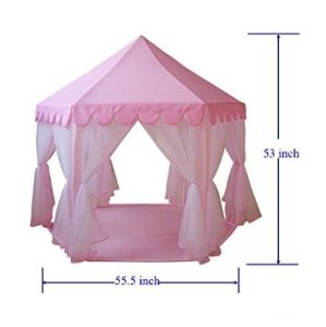 GreEco-Princess-Castle-PLay-Tent-Fairy-Princess-Castle-TentNewest-Design-Extra-Large-Room-Pink-0