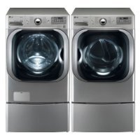 LG-Graphite-51-Cu-Ft-Front-Load-Steam-Washer-and-90-Cu-Ft-Steam-Electric-Dryer-set-with-Pedestals-WM8000HVA-DLEX8000V-WDP5V-0