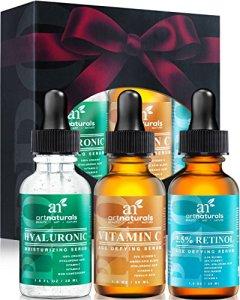 Art-Naturals-Anti-Aging-Set-Vitamin-C-Serum-10-oz-Retinol-Serum-10-oz-Hyaluronic-Acid-Serum-10-oz-for-Anti-Wrinkle-and-Dark-Circle-Remover-0