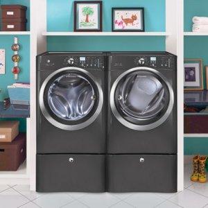 Electrolux-Laundry-Bundle-Electrolux-EIFLS60LT-Washer-Electrolux-EIMED60LT-Electric-Dryer-wPedestals-Titanium-0