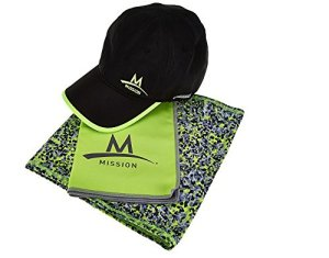 Mission-Cooling-Towel-Performance-Hat-and-5-in-1-Multi-Cool-Set-BlackHV-Green-0