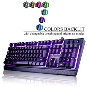 Emarth-Mechanical-Feel-Wired-Gaming-Keyboard-for-PC-with-Ergonomic-Cool-LED-Backlit-Design-Black-0