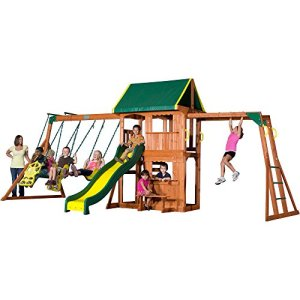Backyard-Discovery-Prairie-Ridge-All-Cedar-Wood-Playset-Swing-Set-0