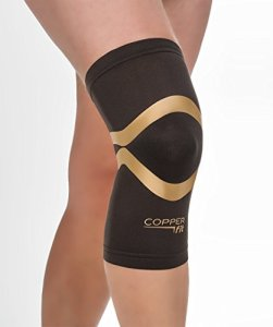 Copper-Fit-Pro-Series-Performance-Compression-Knee-Sleeve-Black-with-Copper-Trim-Large-0