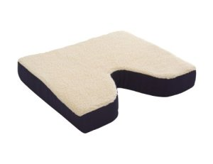 Essential-Medical-Supply-Fleece-Covered-Coccyx-Cushion-18-Inches-X-16-Inches-X-3-Inches-0