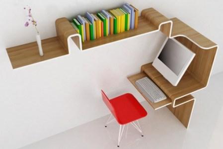 10. K-Pracovná stanica Dizajn domácej knižnice