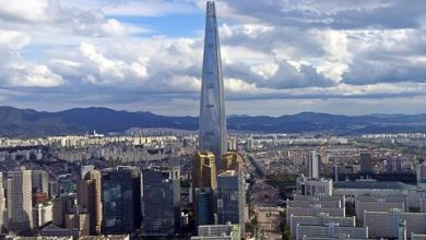 6. Lotte World Tower, Seoul - 555.7m