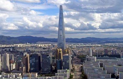 6. Lotte World Tower, Seoul - 555.7m Najväčšia budova